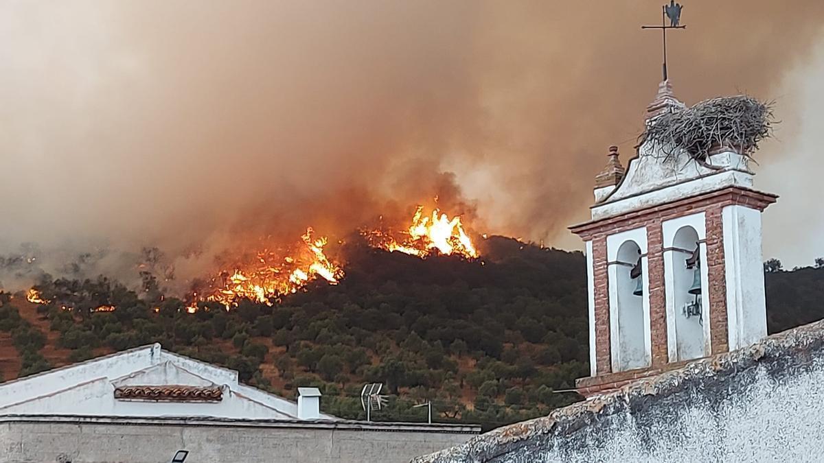 Instantánea del incendio de Antonio Bautista Rivas