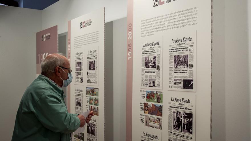 """""""Seguimos dando tira"""", una exposición que """"te recuerda lo que habías olvidado"""" para conmemorar los 25 años de LA NUEVA ESPAÑA de las Cuencas"""