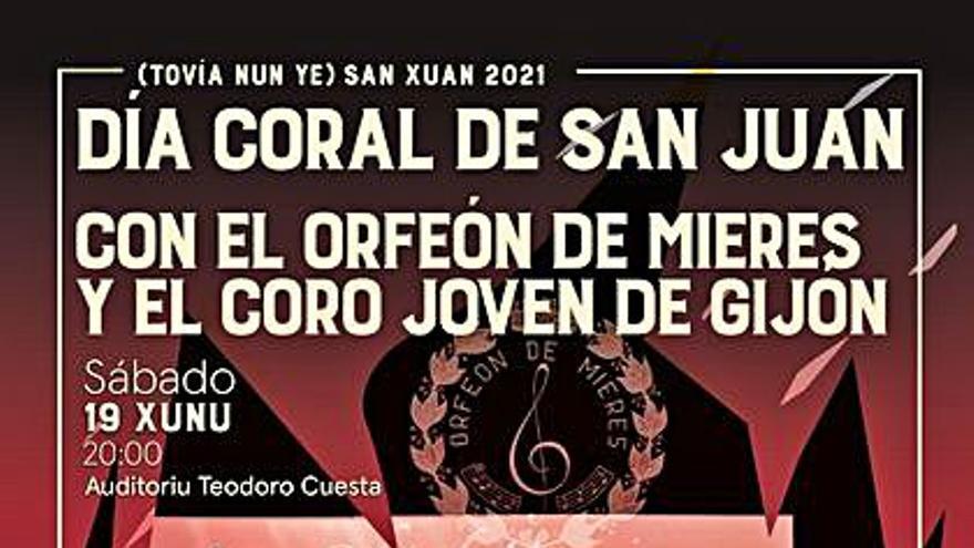El Orfeón de Mieres ofrece esta tarde su tradicional concierto de San Xuan