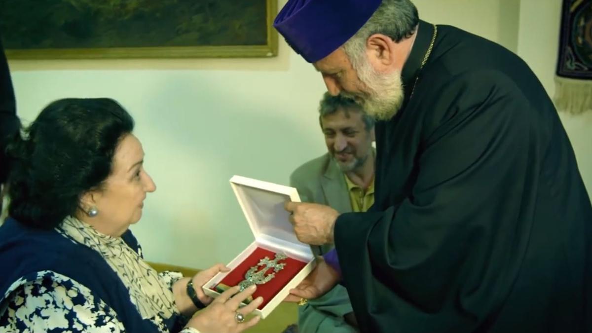 Montserrat Caballé durante su visita en el año 2013 a Armenia y Artsaj (Nagorno Karabaj)