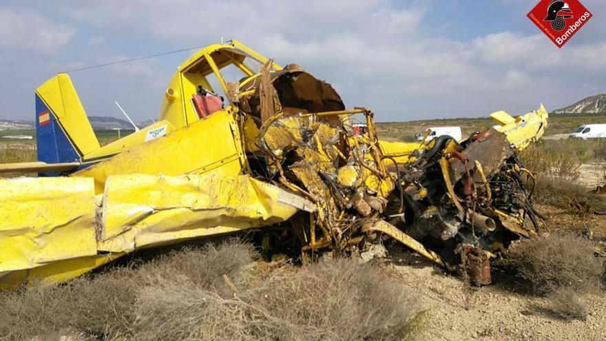 Herido el piloto de una avioneta al estrellarse en Torremendo