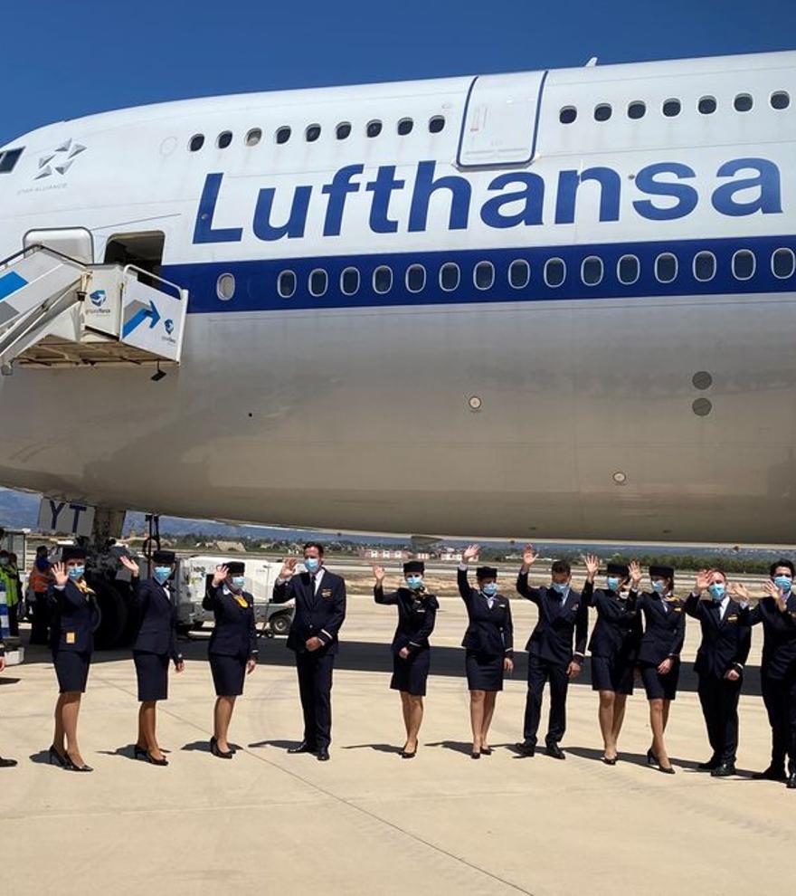 Ausgebuchter Jumbo-Jet von Lufthansa landet auf Mallorca