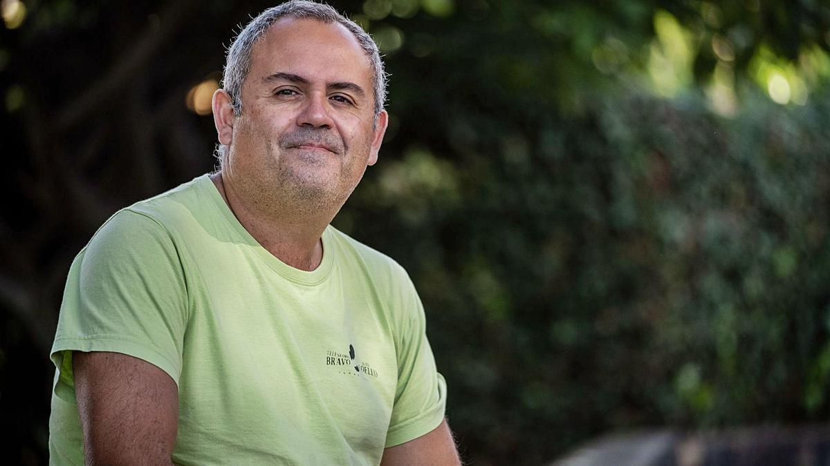 Jaime Coello Bravo, hace unos días en el exterior del IES Villalba Hervás de La Orotava.