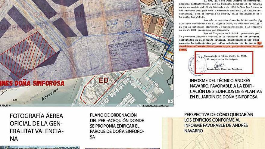 El portavoz del PSOE validó como arquitecto construir en el parque de Doña Sinforosa