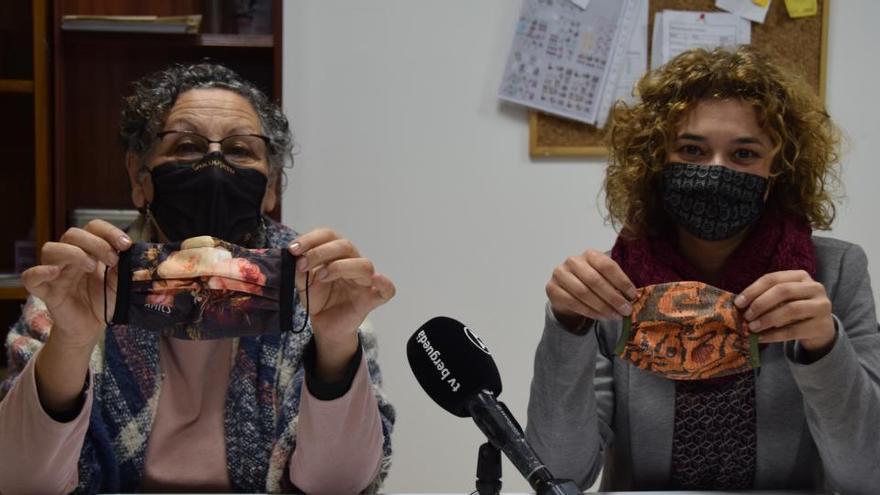 El Grup Horitzó presenta unes mascaretes amb motius artístics