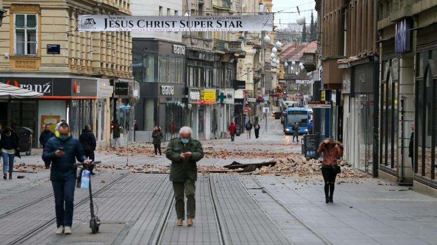 Destrucció a Zagreb per una sèrie de terratrèmols