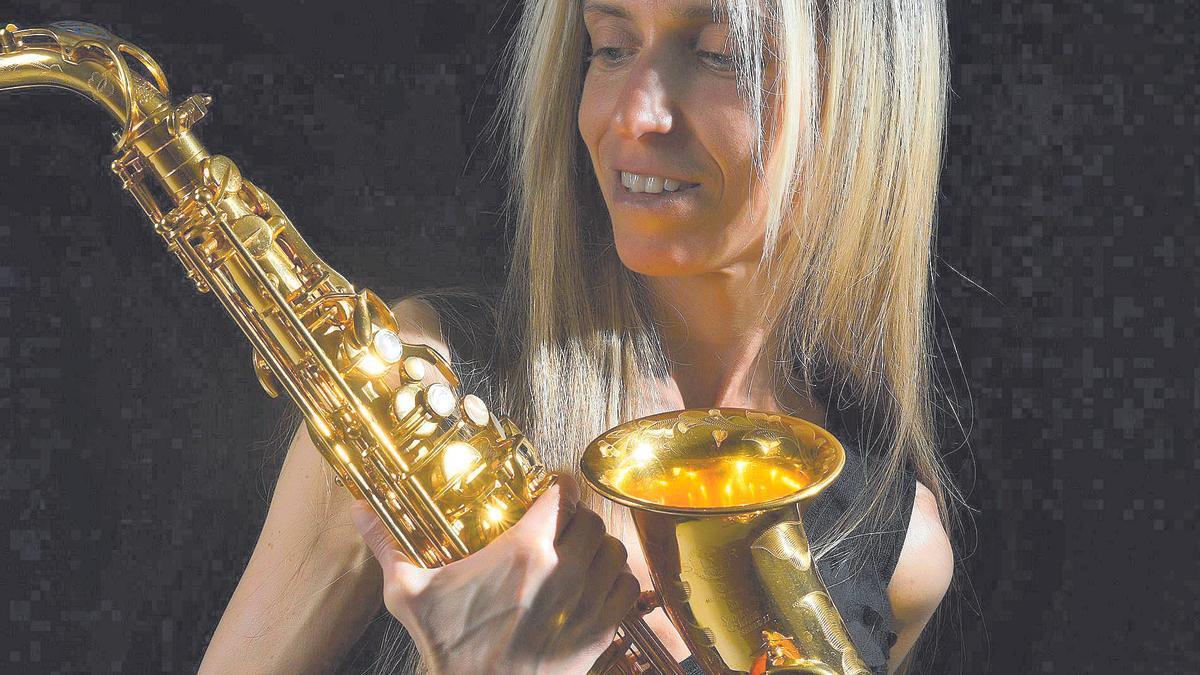 La saxofonista tinerfeña Cristina Delgado.