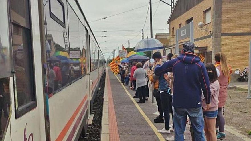 Los luceneros se suman a 'Aragón no pierdas tu tren'