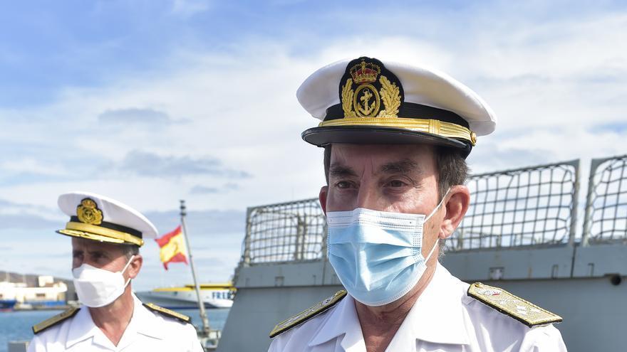 El Almirante de la Flota visita por primera vez las unidades en Canarias