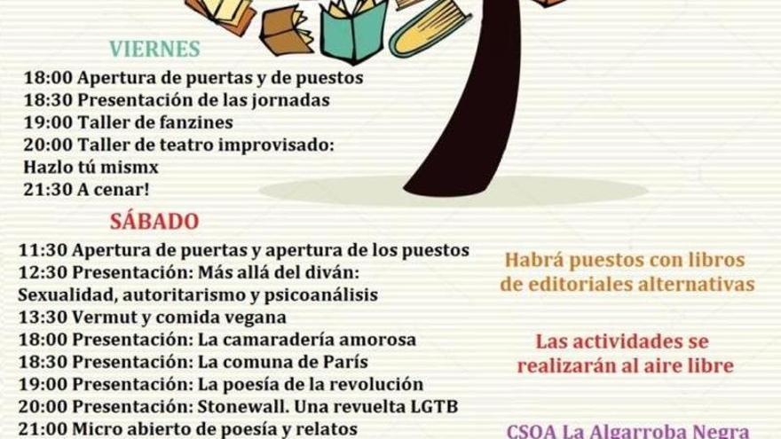 La Algarroba Negra inaugura hoy unas jornadas literarias