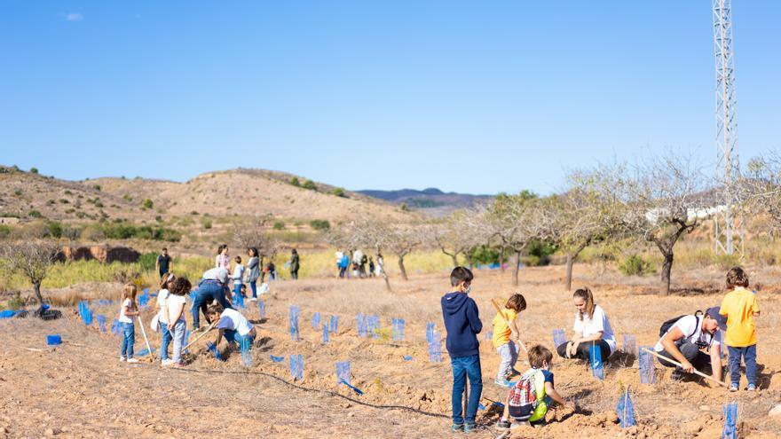 Creect y voluntarios de Repsol crean el tercer banco de semillas de Cartagena
