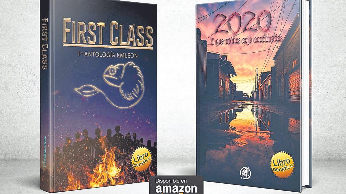Las portadas de las dos antologías solidarias que se pondrán a la venta la próxima semana.