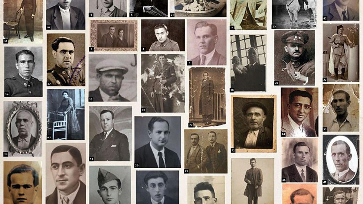 Fotografíes del mural de represaliats de la Fossa 21 del Cementeri de Paterna.  | A. F. DE PERSONES AFUSELLADES