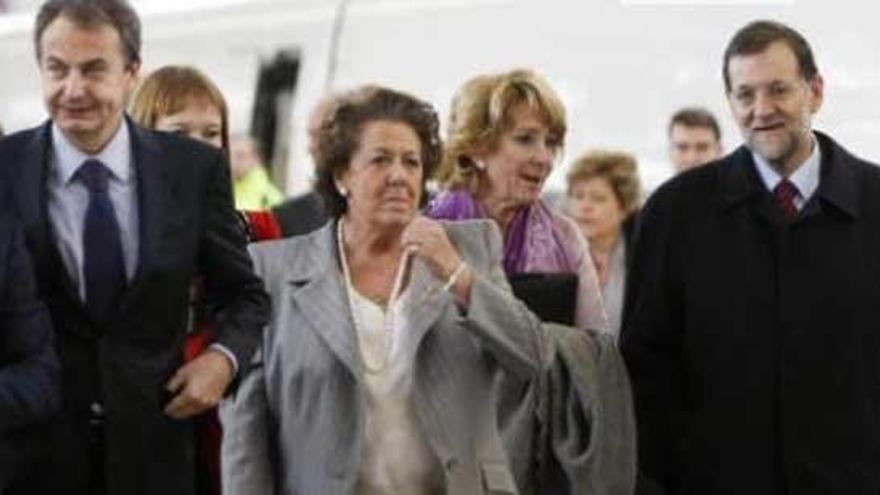 El Ministerio de Fomento invita por error a Barberá a la llegada del AVE a Castellón