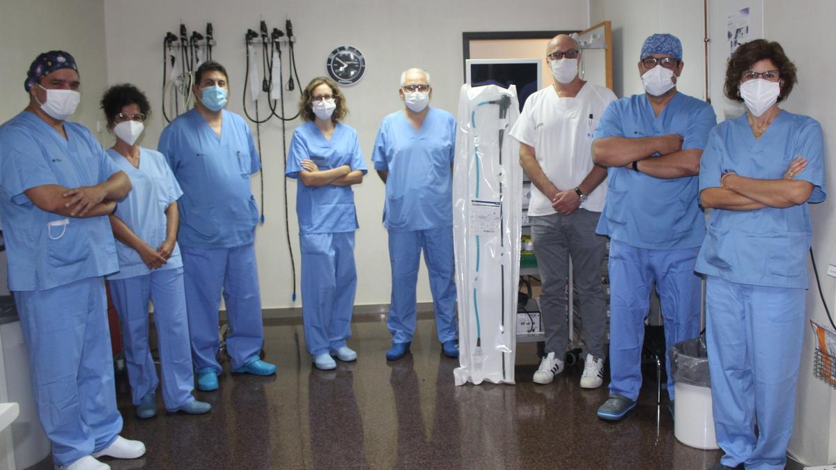 La Unidad de Endoscopia Digestiva con el nuevo duodenoscopio de un solo uso