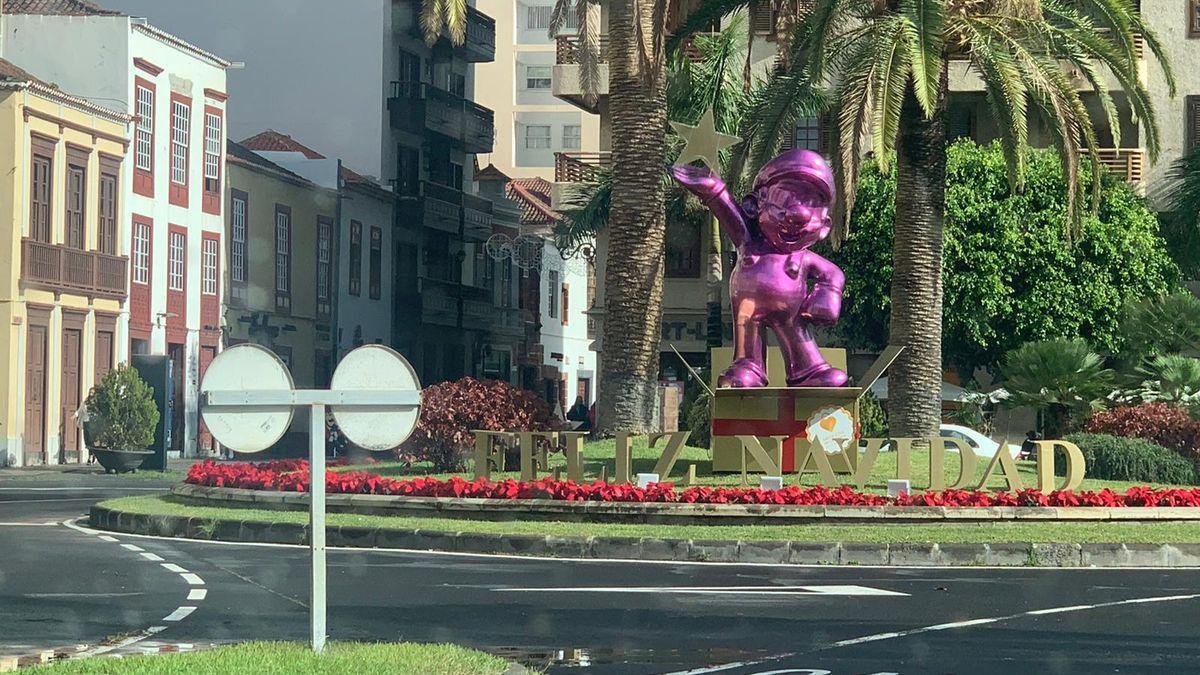 El elemento decorativo de Santa Cruz de La Palma.