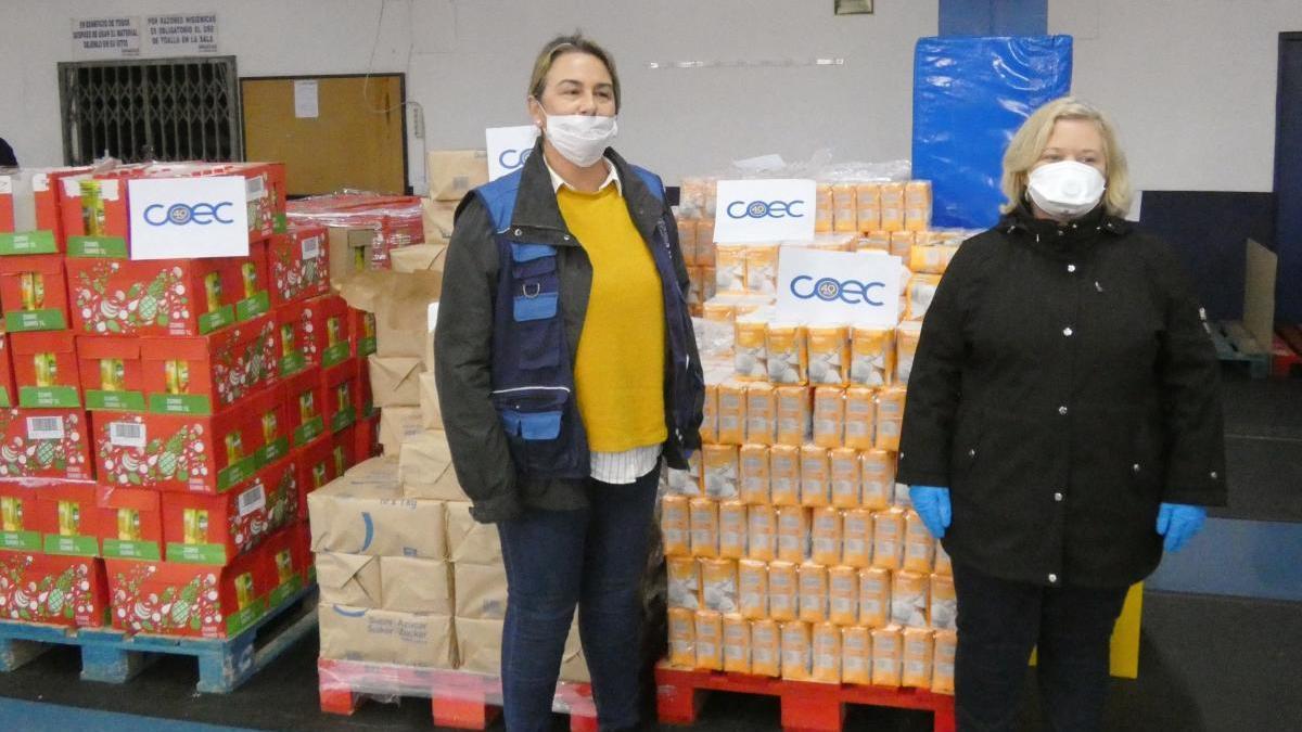 COEC entrega 2.000 kilos de alimentos al dispositivo de emergencia