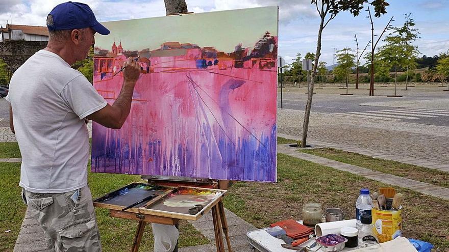 """Pintar """"a terriña""""  ao aire libre"""