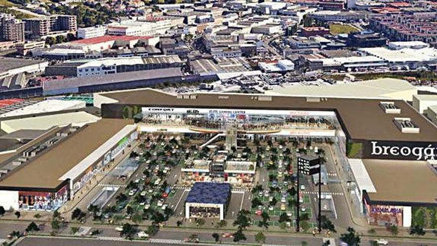 El nuevo parque comercial de A Grela pasará de 170 locales a 30 de grandes dimensiones
