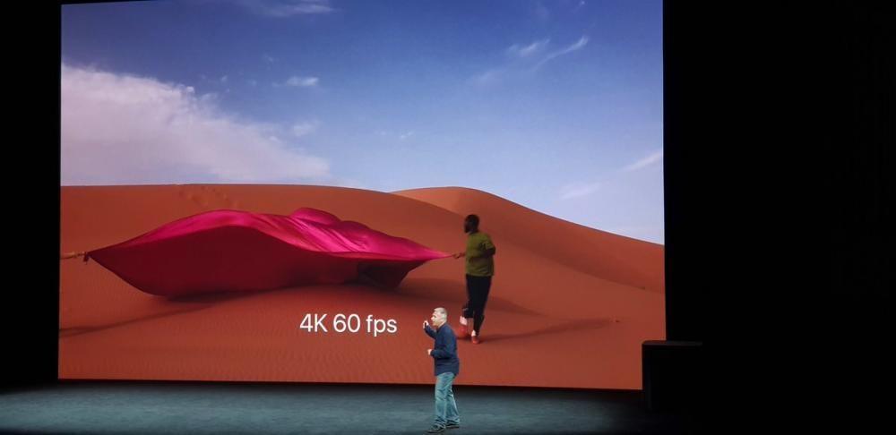 El iPhone 8 ofrece vídeo 4K a 60 FPS.
