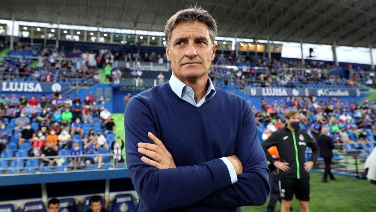 Míchel, in a game as Getafe coach.