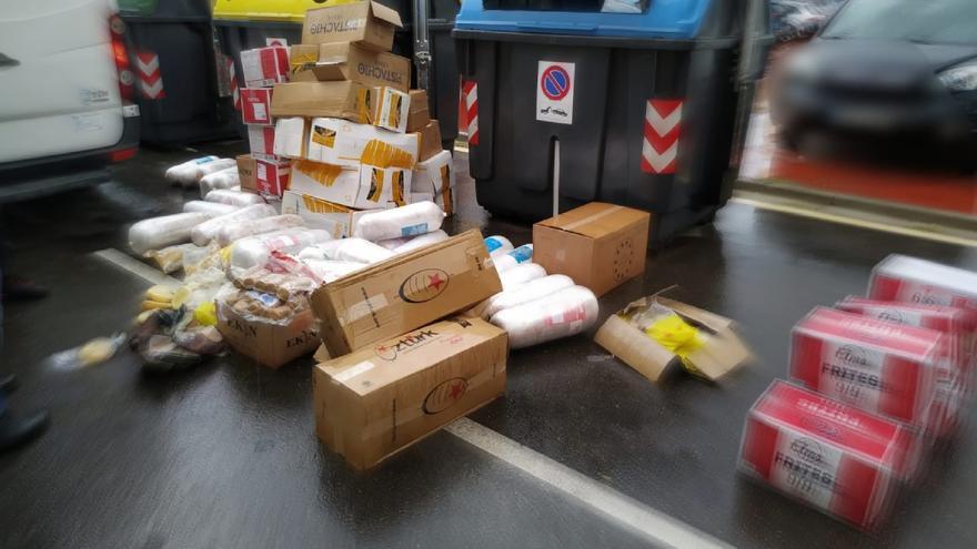 Carne de Kebab, pollo… 600 kilos de alimentos que transportaba por Zaragoza sin respetar la cadena de frío