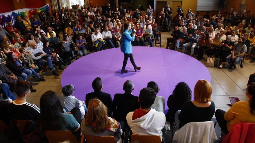 Podemos celebra su mitin central en Zaragoza