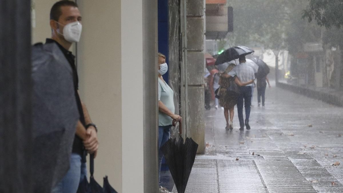 Imagen de archivo de lluvia en Córdoba.