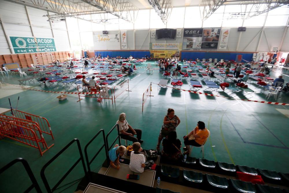 El camping de El Marjal sufre inundaciones y Cruz Roja tiene que montar otro albergue en Crevillent