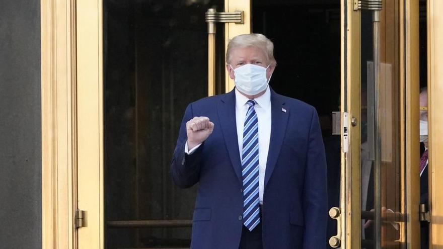 Trump: «No temeu la covid-19; no permeteu que domini la vostra vida»