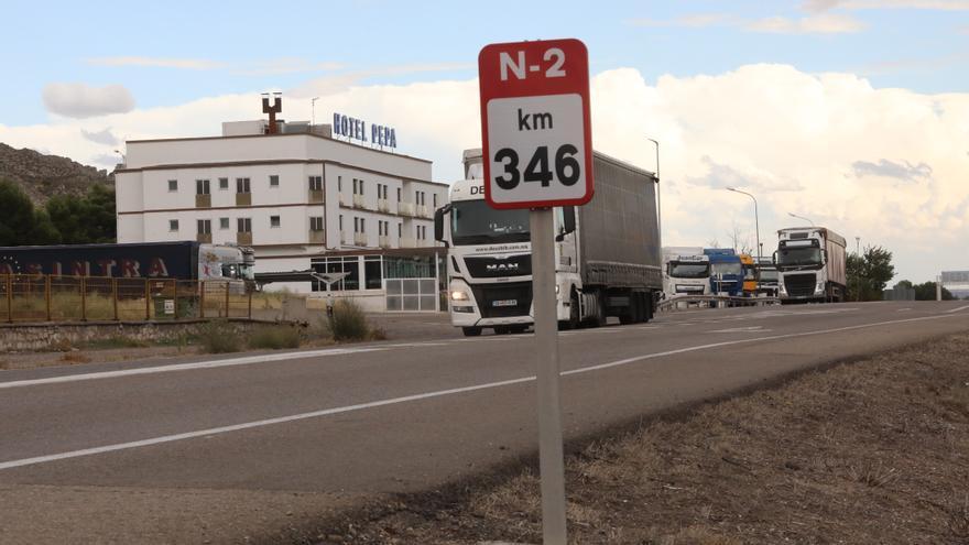 El tráfico de la N-2 baja más de un 50% por la gratuidad de la autopista AP-2
