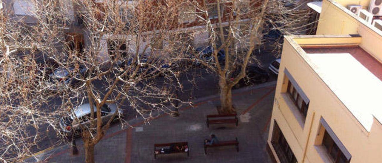 Plaza «ocupada» en Sagunt