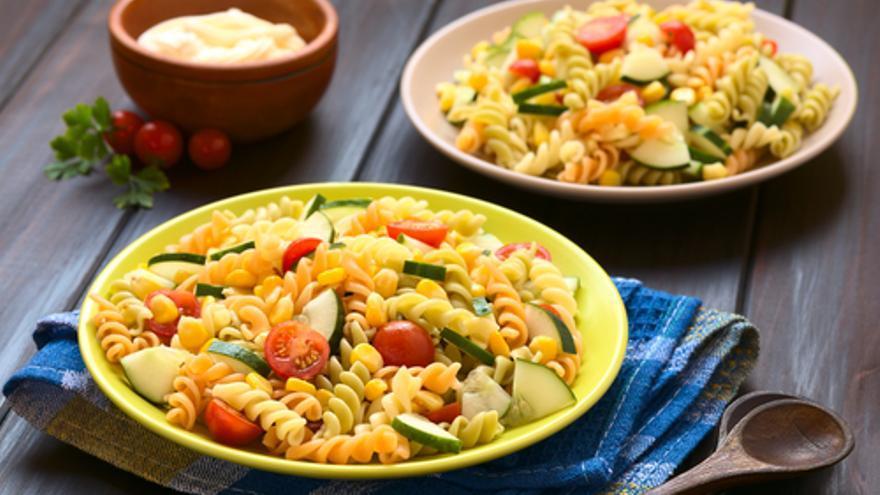 Espirales con verduras