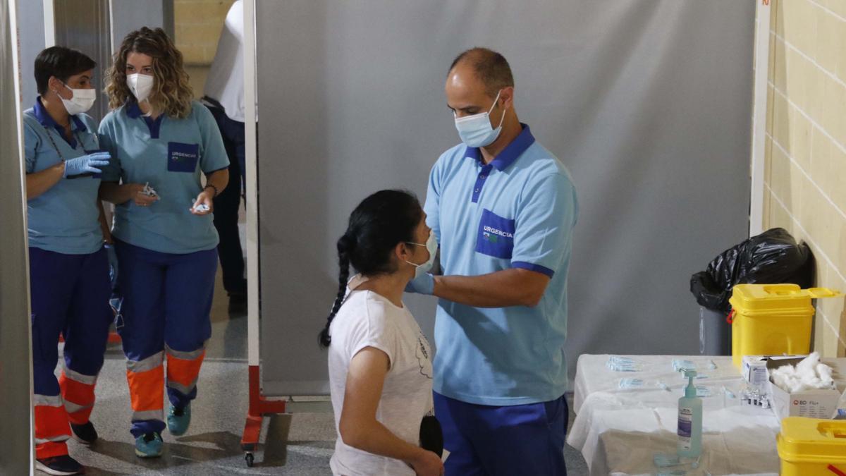 Esta semana ha empezado la vacunación en Vista Alegre.