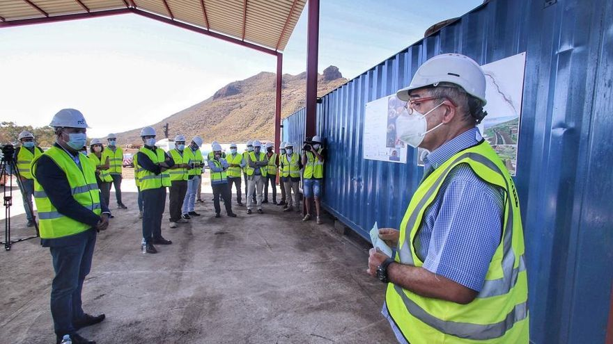 La perforación del mayor túnel de Canarias comienza en Santiago del Teide