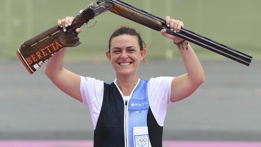 La tiradora Perilli da a San Marino la primera medalla de su historia