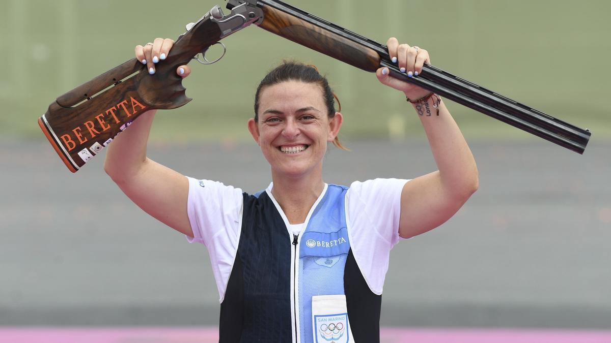 La tiradora de San Marino Alessandra Perilli.