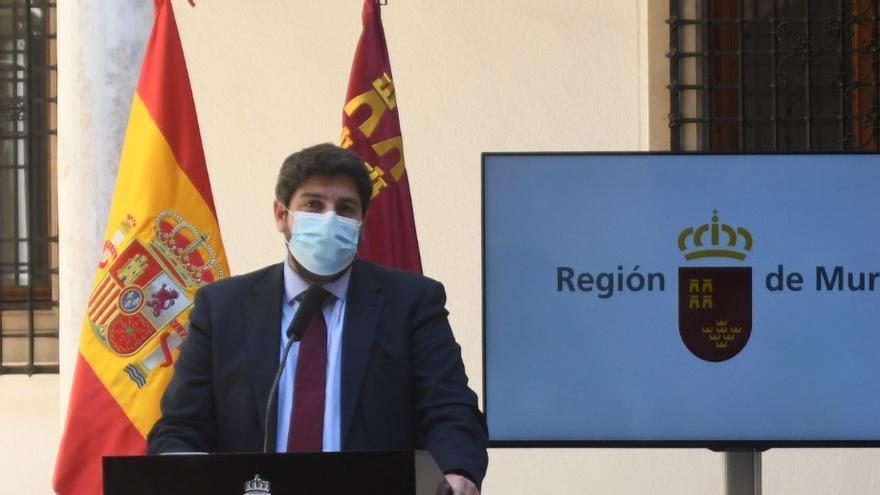 """Fernando López Miras: """"Frente a la traición, gana el compromiso en la Región"""""""