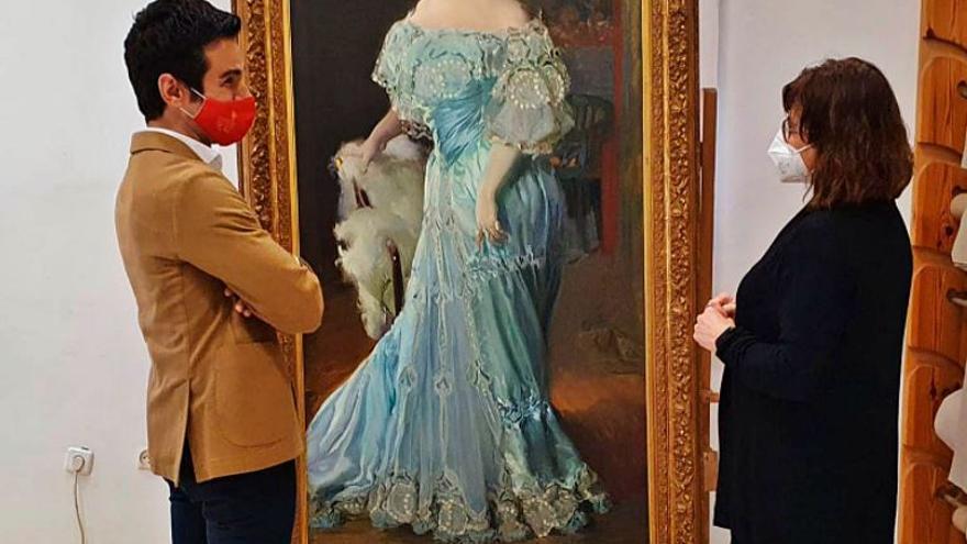 El retrato de Sorolla  a Isabel Bru llega al Museo de Bellas Artes