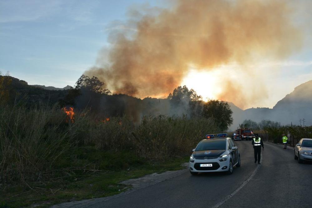 Un incendio en El Menjú devora parte de la vegetación del paraje