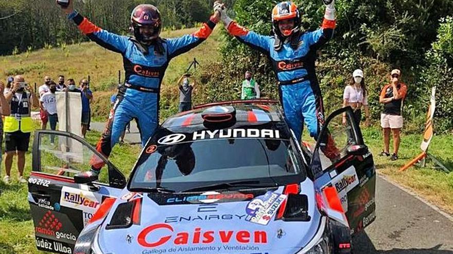 Iván Ares y David Vázquez se llevan la victoria en el Rally de Ferrol