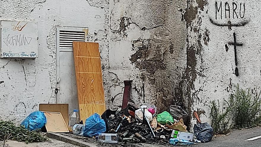 Seis contenedores quemados en la capital grancanaria este fin de semana