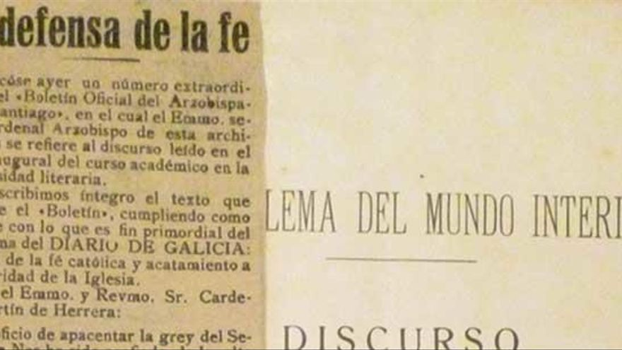 O discurso de Nóvoa Santos que foi condenado polo arcebispo compostelán está de aniversario