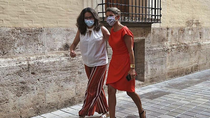 Oltra impulsa en València un acto con Yolanda Díaz y Ada Colau
