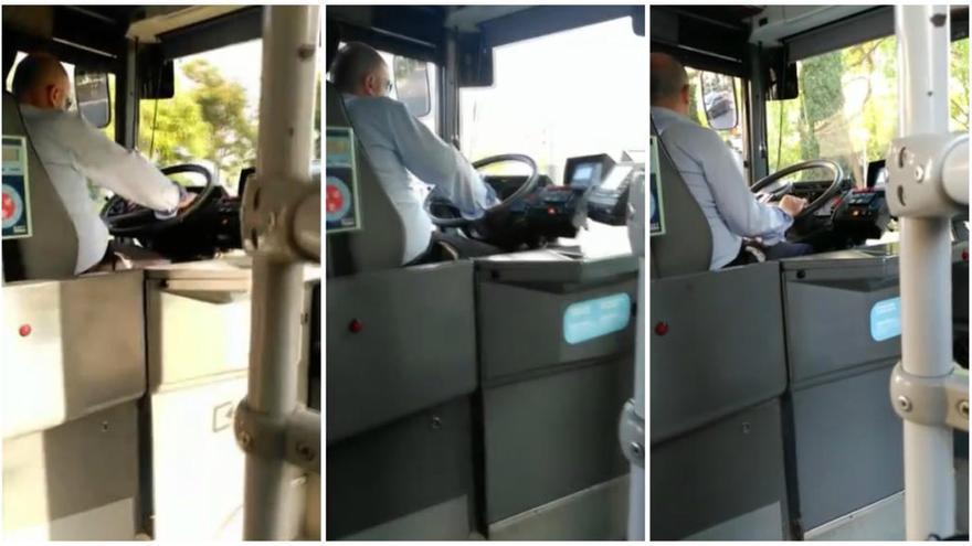 La EMT investiga a un conductor al que grabó un pasajero utilizando el móvil