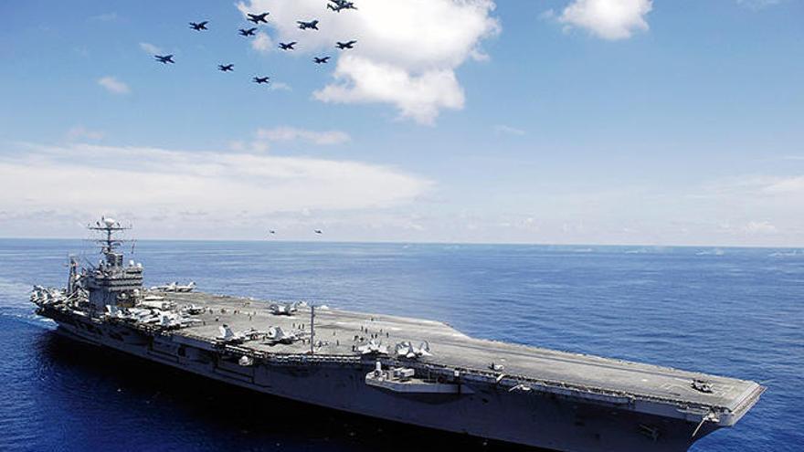 El portaaviones 'Abraham Lincoln' llega este lunes a la bahía de Palma