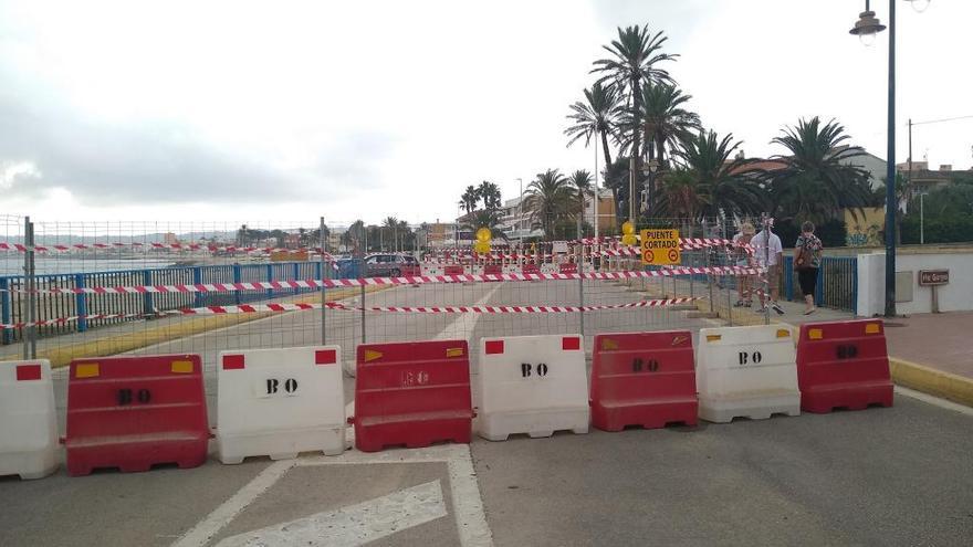 Reabierto solo para peatones el puente de Triana de Xàbia