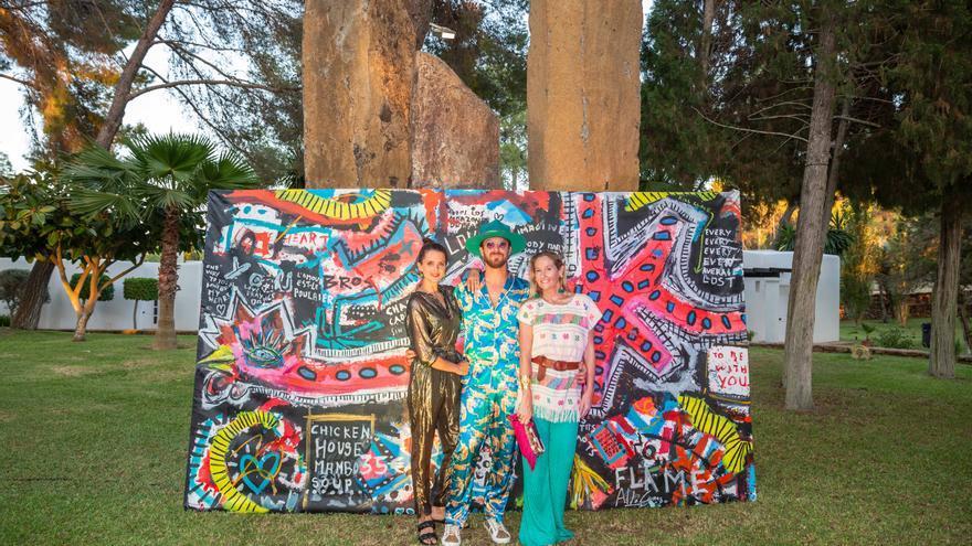 La actriz Macarena Gómez y su marido el pintor Aldo Comas, una pareja con mucho arte