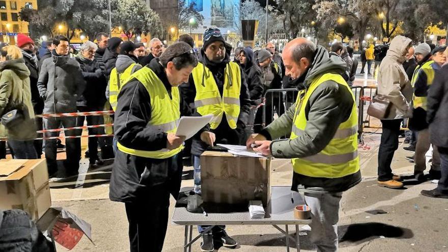 La votación de los taxistas de Barcelona