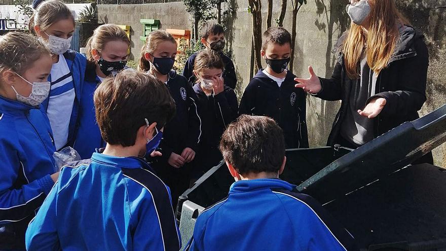 Bueu extiende la red de composteros a los colegios de A Pedra y Virxe Milagrosa